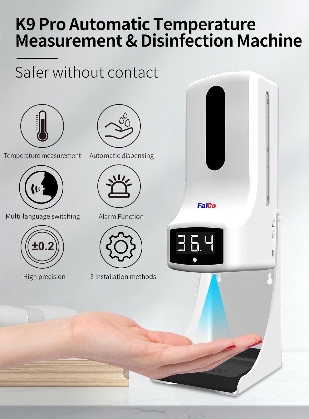เครื่องวัดอุณหภูมิฝ่ามือ k9 pro